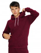 Heren Hooded Sweater American Apparel Mock Twist MT498W