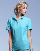 Dames Poloshirt Anvil Double Piqué 6280L