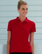 Dames Poloshirt Russell Poly-Cotton Blend R-539F-0