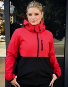 Softshell Dames Jas Hooded Contrast SG44F