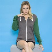Dames Hooded Sweater met Rits AWDis Retro JH059