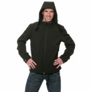 Softshell Heren Jassen hooded B&C