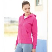 Dames Hooded Sweater full Zip Fruit of the loom