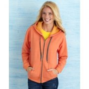 Dames Hooded Sweaters full zip Gildan18700FL
